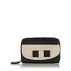 The Collection - Black bow mini zip around purse