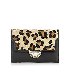The Collection - Black leopard medium print purse