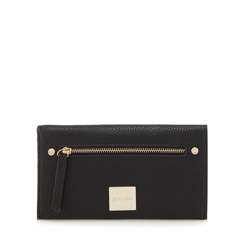 Principles Black zip front large purse - One Size - Purses (8794658 5045478920288) photo