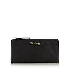 Mantaray - Black leather stud front large zip purse