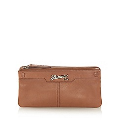 Mantaray - Tan leather stud front purse
