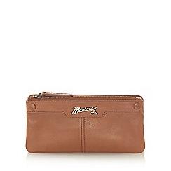 Mantaray - Tan leather stud front purse