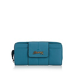 Mantaray - Turquoise leather tabbed purse