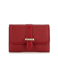 Bailey & Quinn - Red leather 'Primrose' bar detail medium purse