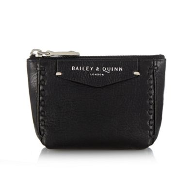 Bailey & Quinn Black ´Helenium´ leather stitch front coin purse - . -