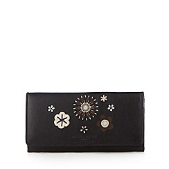Bailey & Quinn - Black leather applique purse
