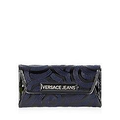 Versace Jeans - Black swirl stitch medium purse