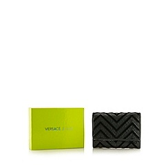 Versace Jeans - Dark green zig zag patent medium purse