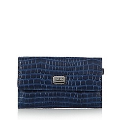 O.S.P OSPREY - Navy mock croc large purse
