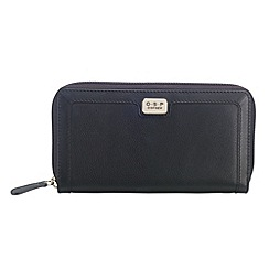 O.S.P OSPREY - Black leather large zip around purse