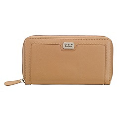 O.S.P OSPREY - Tan leather large zip around purse