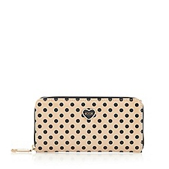 Floozie by Frost French - Beige polka dot large purse