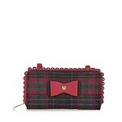 Floozie by Frost French - Dark pink check cross body bag