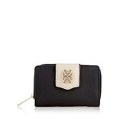 Bailey & Quinn - Black 'Peony' medium leather popper purse