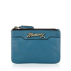 Mantaray - Turquoise leather coin purse