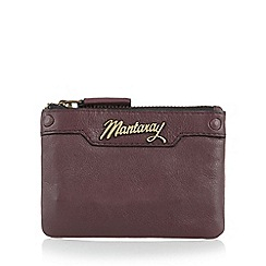 Mantaray - Purple leather coin purse