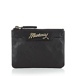 Mantaray - Black leather coin purse