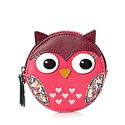 Mantaray - Pink round owl coin purse