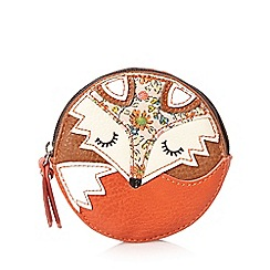 Mantaray - Tan round fox coin purse