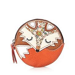 Mantaray - Tan round fox coin purse