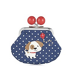 Mantaray - Navy spotted dog kite coin purse