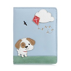 Mantaray - Pale blue dog and kite travel card holder