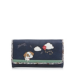 Mantaray - Navy dog and kite large flap over purse