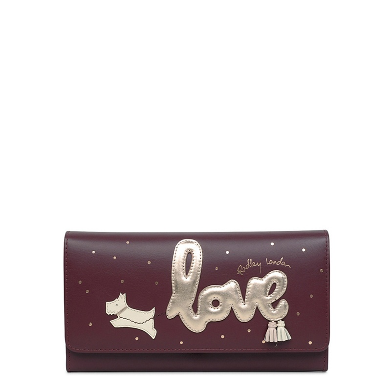 Radley Wine Large Love is in the Air Leather Flapover Purse - One Size - Purses (8803855 13625) photo