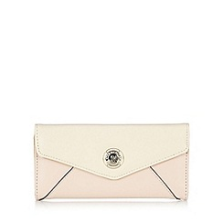 Star by Julien Macdonald - Designer pale pink colour block envelope large purse
