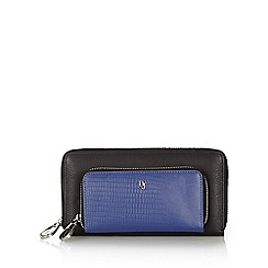 Betty Jackson.Black - Designer blue leather zip front purse