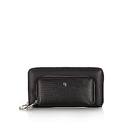Betty Jackson.Black - Designer black leather zip front purse