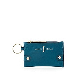 J by Jasper Conran - Designer turquoise grained coin purse