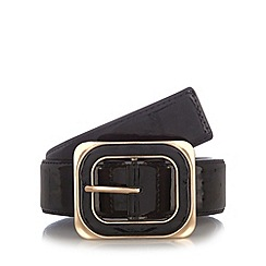 The Collection - Black patent chunky buckle belt