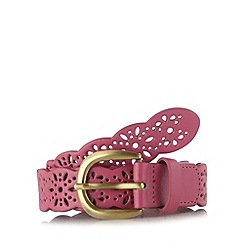 Mantaray - Pink cutout flower belt