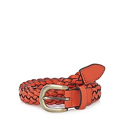 Mantaray - Orange woven textured belt