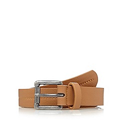 Mantaray - Tan stitched slim belt