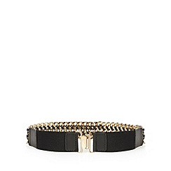 Faith - Black woven chain belt