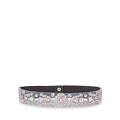 Floozie by Frost French - Black pretty gem waisted belt
