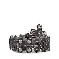 Floozie by Frost French - Black daisy perspex belt