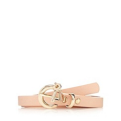 Floozie by Frost French - Light pink padlock charm skinny belt