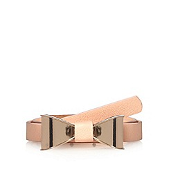Floozie by Frost French - Light pink skinny bow belt