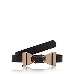 Floozie by Frost French - Black skinny bow belt