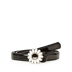 Floozie by Frost French - Black daisy buckle skinny belt