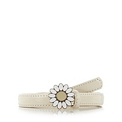Floozie by Frost French - Natural daisy buckle skinny belt