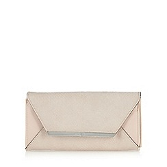 J by Jasper Conran - Designer pale pink mock croc bar trim medium purse