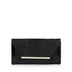J by Jasper Conran - Designer black mock croc bar trim medium purse