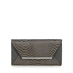 J by Jasper Conran - Designer grey mock snakeskin bar tab purse
