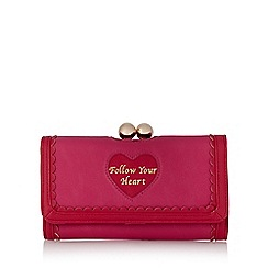 Floozie by Frost French - Red 'Follow your heart' clasp purse
