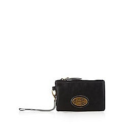 Mantaray - Black zip top wristlet