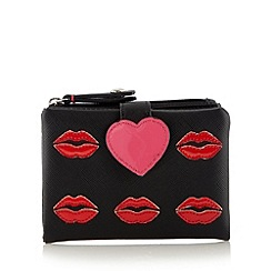 Floozie by Frost French - Black lip applique medium purse